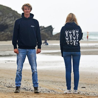 Adult Pullover Crustacean Hoody in Navy (unisex)