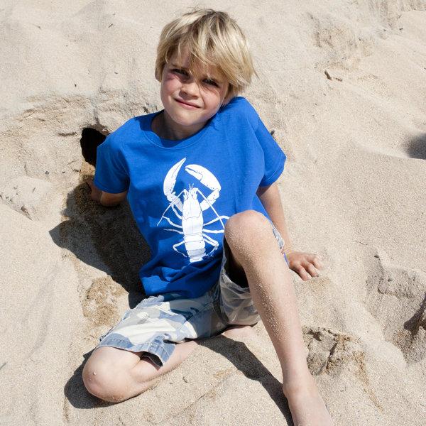 Kids Royal Blue Lobster T-Shirt