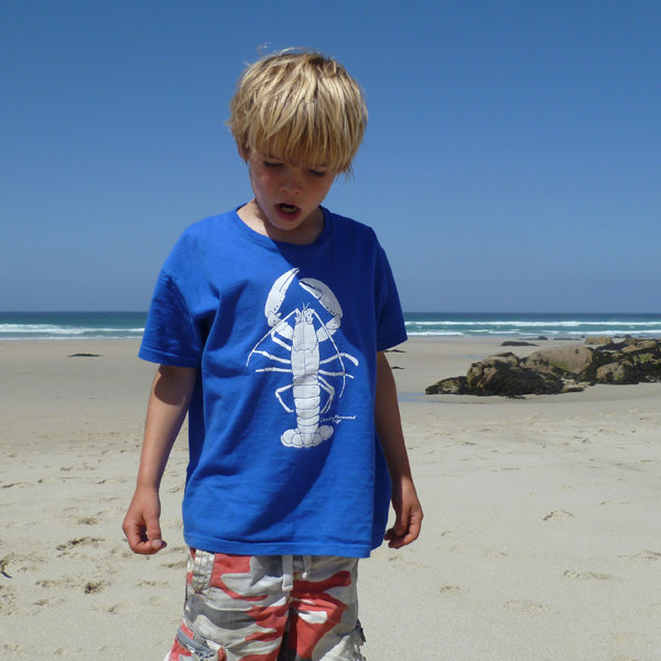 Kids Royal Blue Lobster T-Shirt
