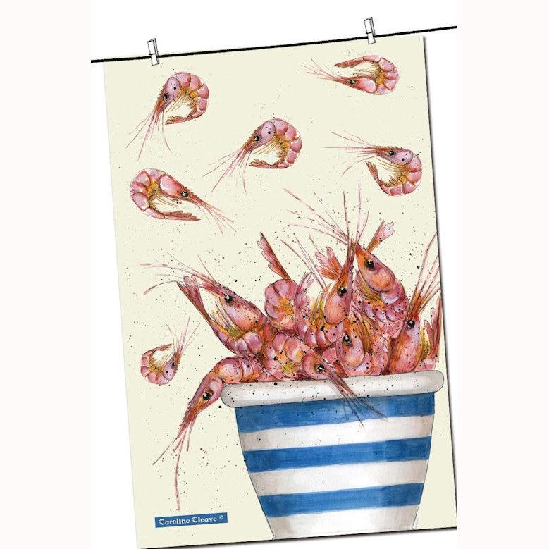 Pot of Prawns T-Towel, design by Caroline Cleave 00227