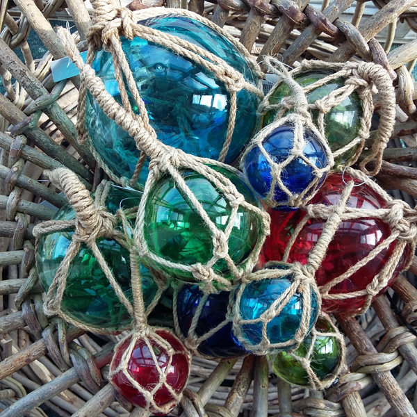 Individual Glass Buoys (3 colours & 4 sizes)