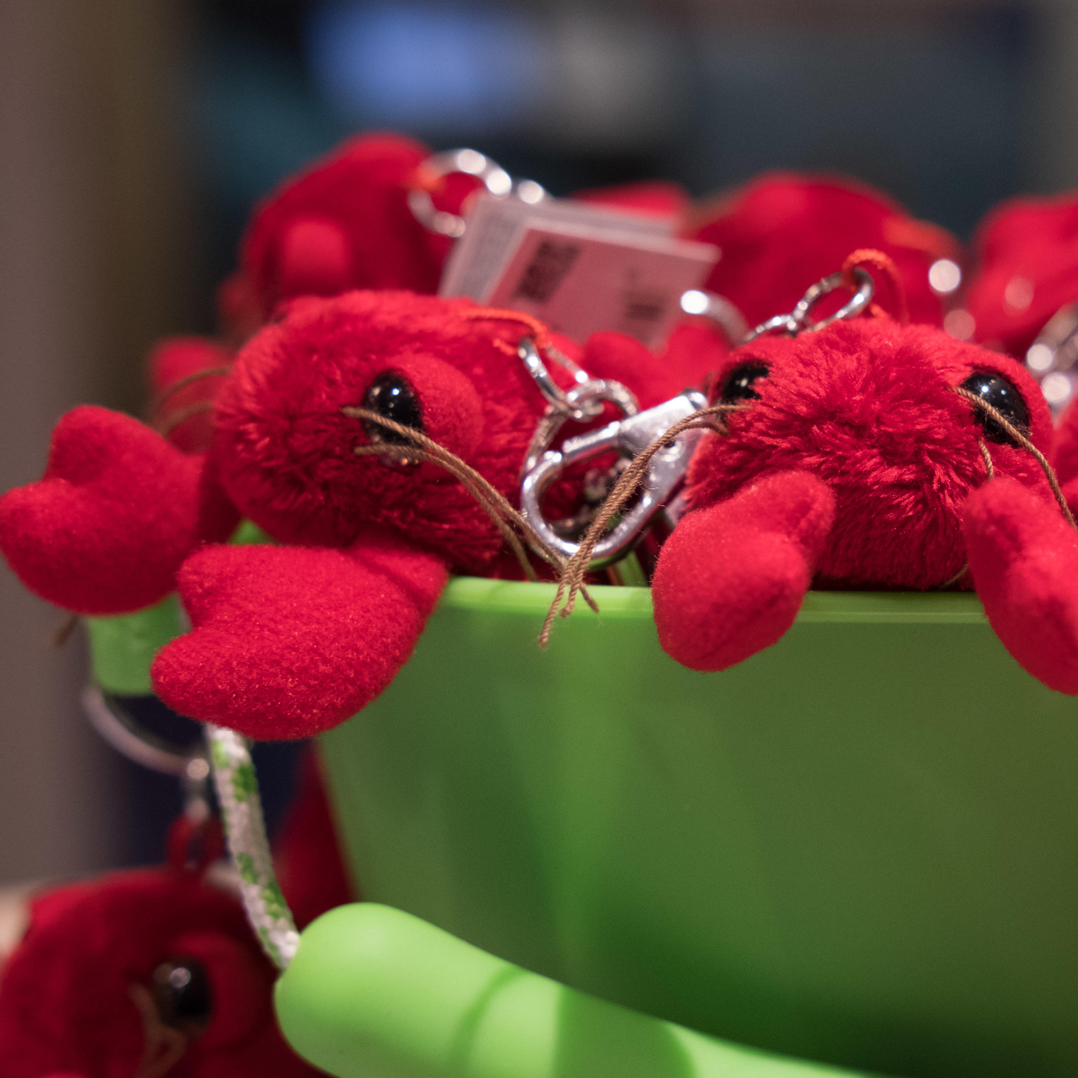 National Lobster Hatchery Fluffy Lobster Keyring