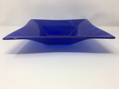Blue Bowl with Clear Glass Tones