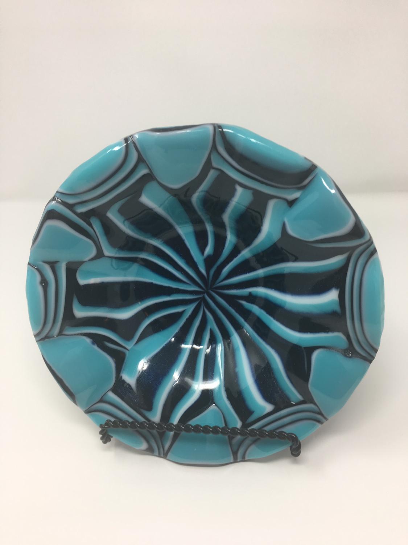 Light Cyan Ruffle Bowl