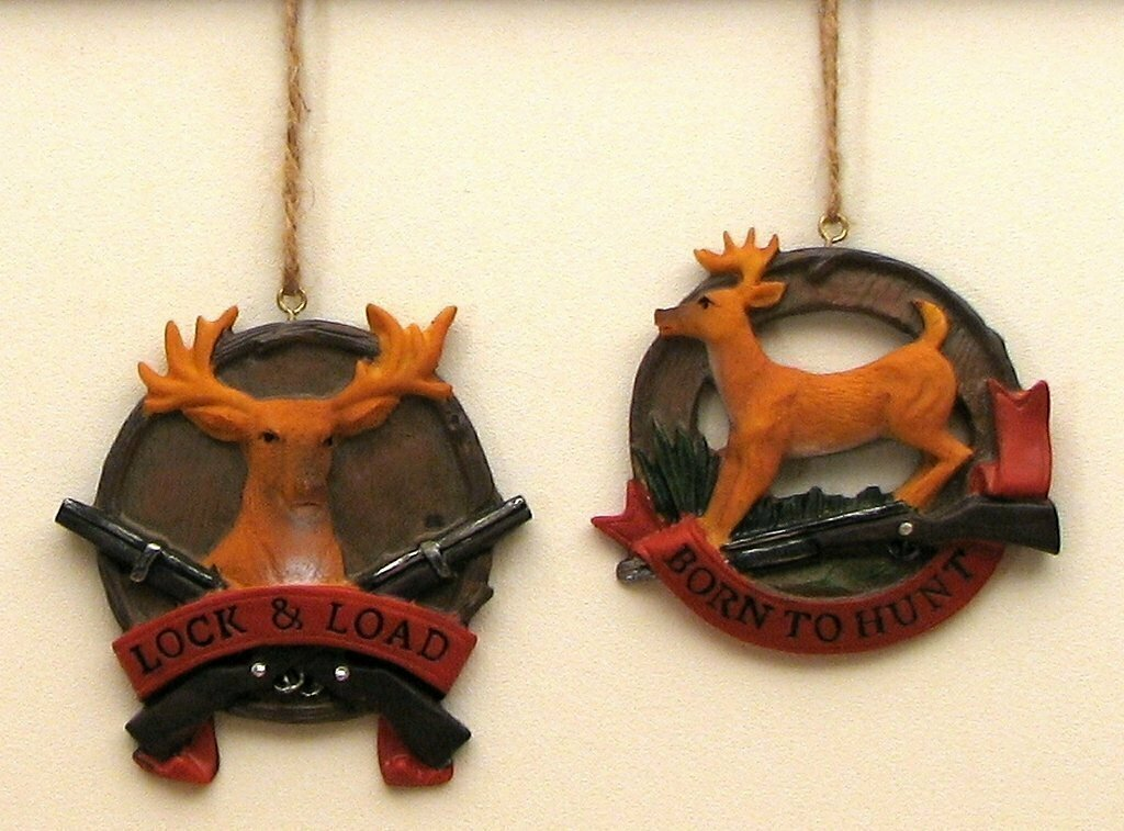 Deer Ornaments Set of 2
