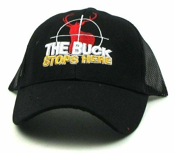 Black Buck Stops Here Cap