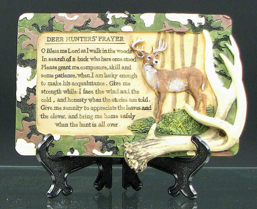 Deer Hunters Prayer Plaque