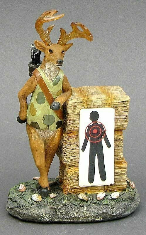 "Resin Comical Deer ""Target Practice"""