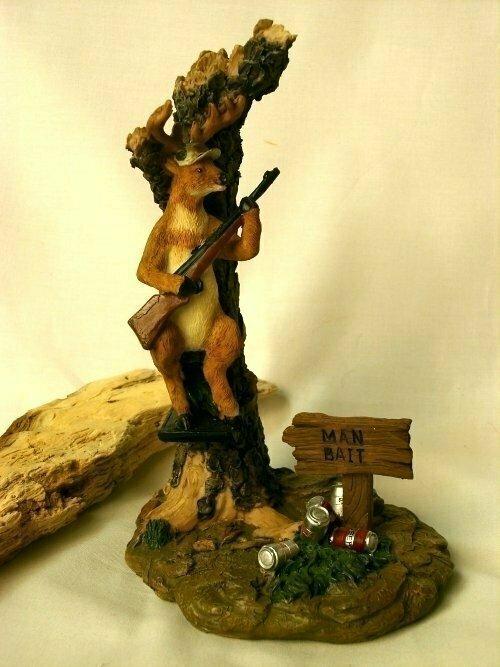 Comical Deer Hunter Man Bait