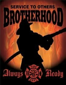 Tin Sign Fireman - Brotherhood