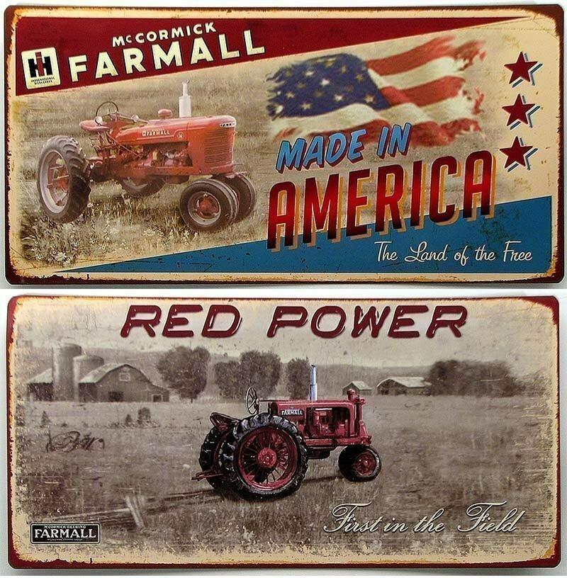 Farmall Tin Sign Set of 2