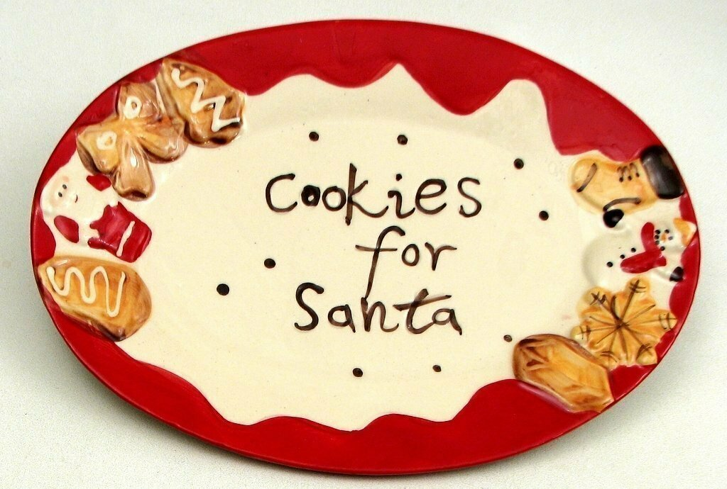 """""""Cookie For Santa"""" Plate"""