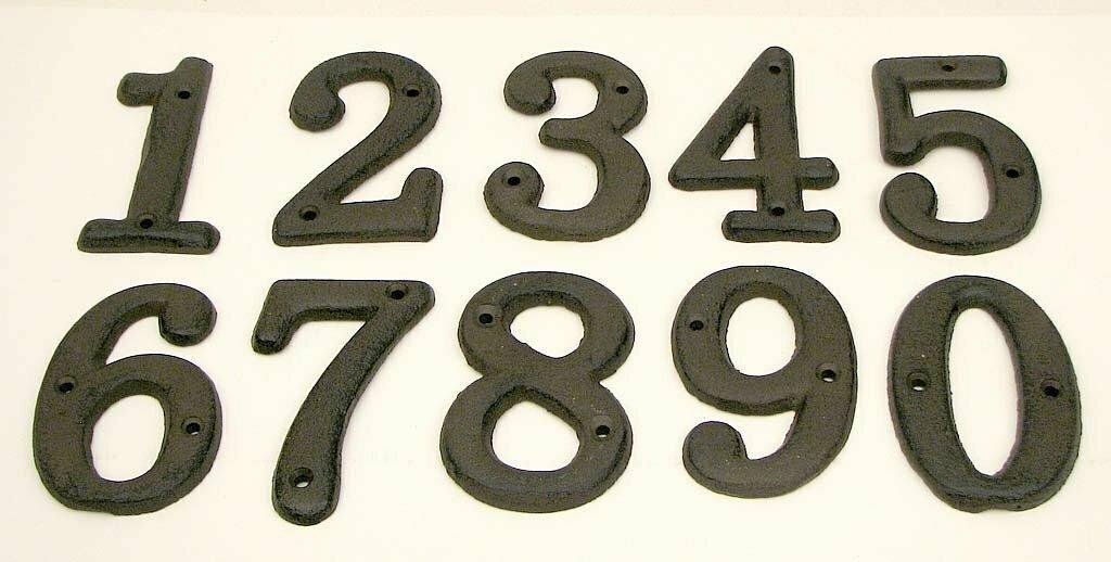 Solid Cast Iron Number 0 - 9 Set 10