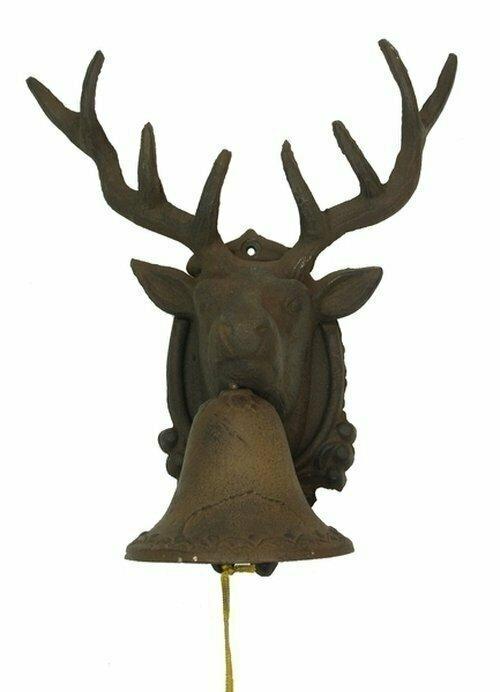 Large CAST IRON Deer Head Bell
