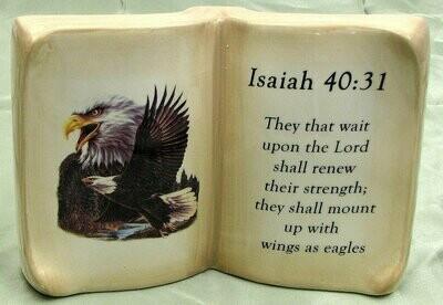 Ceramic Book Eagle Verse Isaiah 40:31