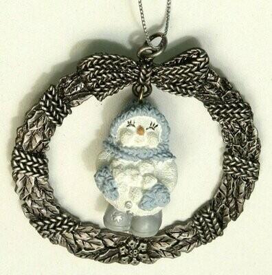 Snow Buddies Snowball Pewter Ornament