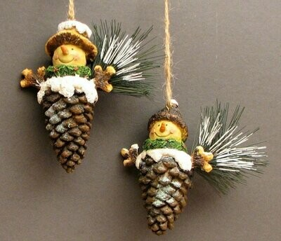 Pinecone Ornaments set/2