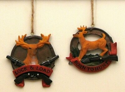 Deer Ornaments Set of 2