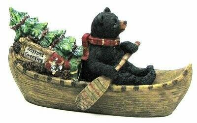 Holiday Bear in Boat