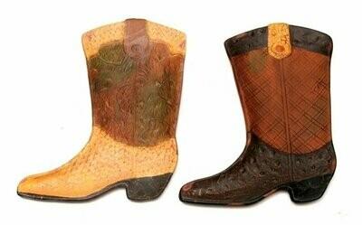 Terracotta Cowboy Boot Wall Plaque Set of 2