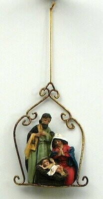 Resin Nativity Ornament