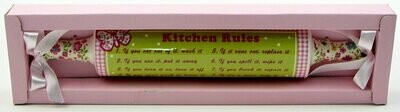 Kitchen Rules Rolling Pin Plaque