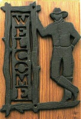 Welcome Cowboy Plaque
