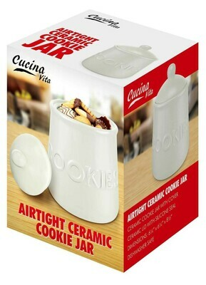 AIRTIGHT CERAMIC COOKIE JAR