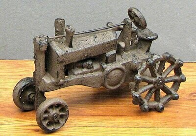 Vintage Cast Iron Tractor