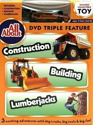 All About Construction-Building-Lumberjacks DVD w Collectible Toy