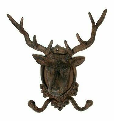 FLAWED Elk Deer Head Wall Hook CLOSEOUT