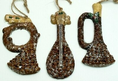 Paperstone Pinecone Ornaments Set of Three