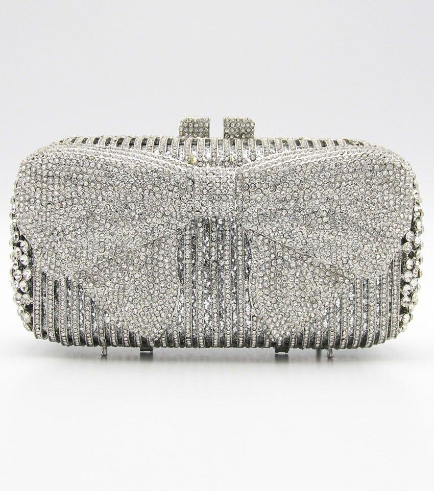 Crystal Bow Cluth Bag