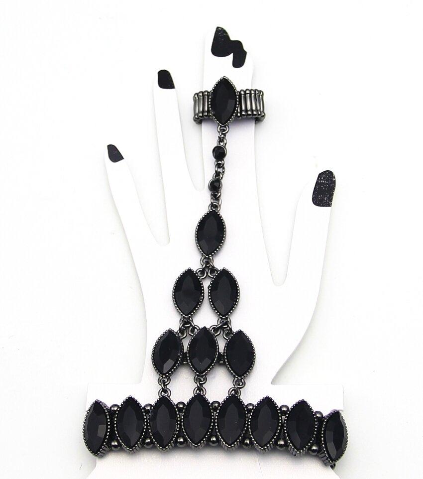 Marquis Crystal Handchain Bracelet
