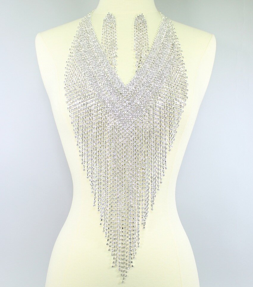 The Statement Rhinestone Fringe Necklace