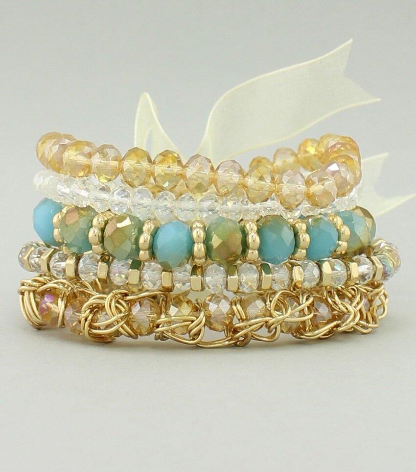 Stackable Resin Crystal Bracelet