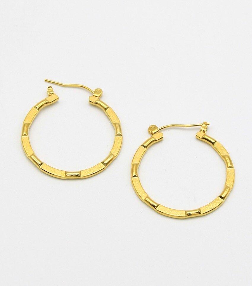 Large Metal Classic Hoop Earrings