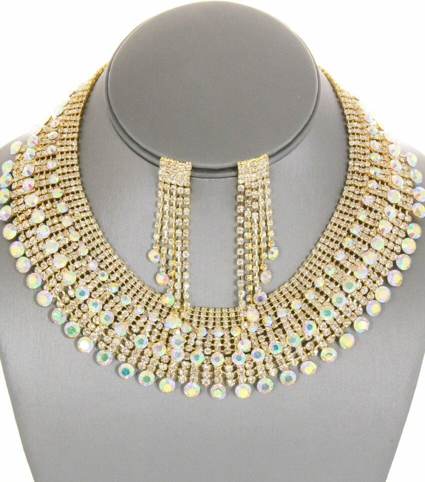 Elegant Pave Stone Collar