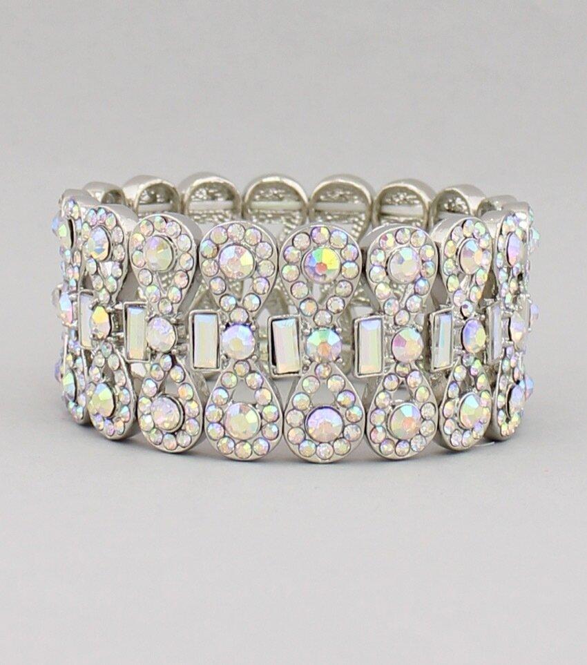 Red Carpet Crystal Stretch Bracelet