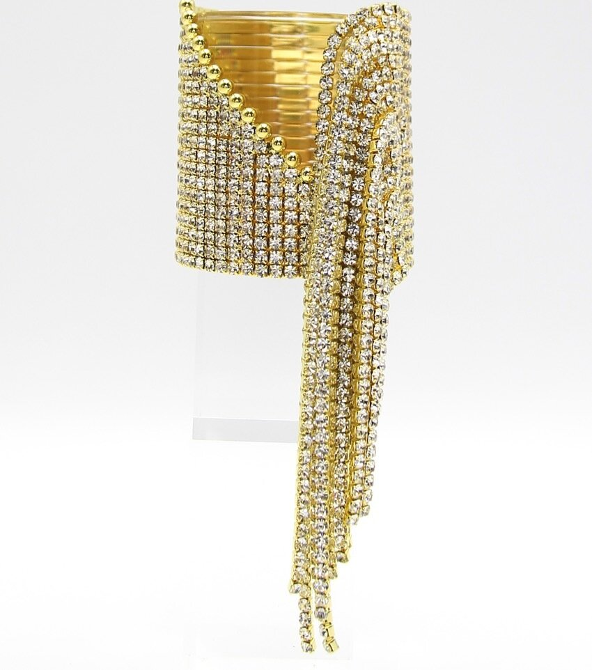 The Crystal Fringe Cuff