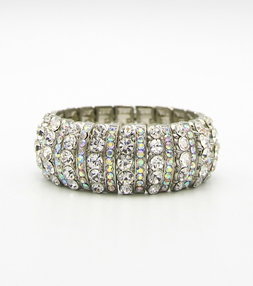 Crystal Stretch Bridal Bracelet