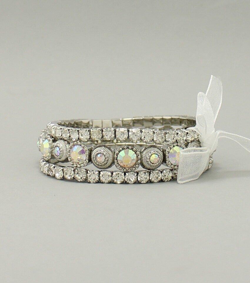 3-Piece Rhinestone Bracelet Set