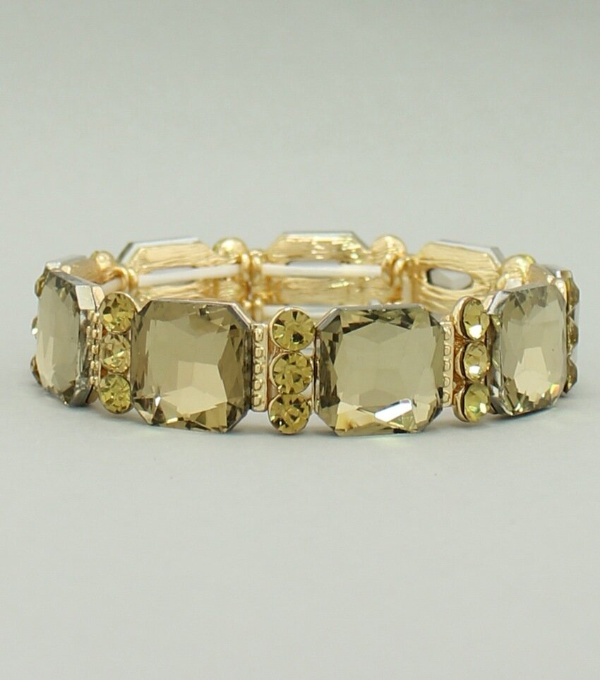 Cube Crystal Stretch Bangle