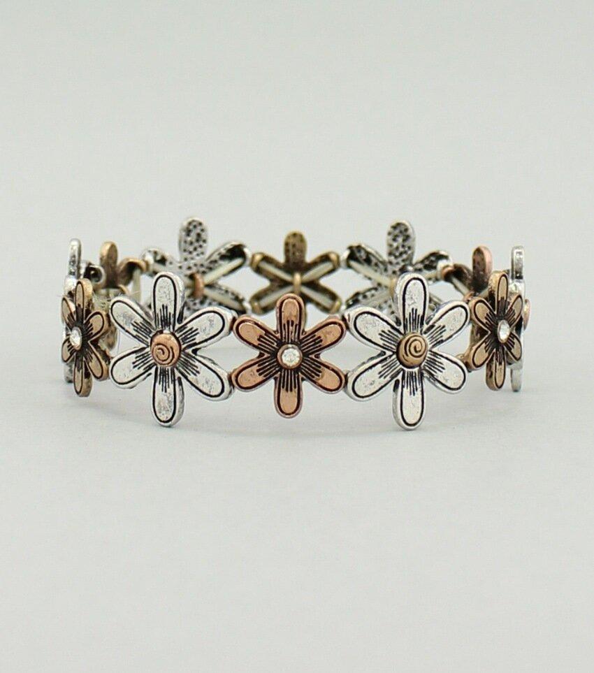 Metal Flower Stretch Bracelet