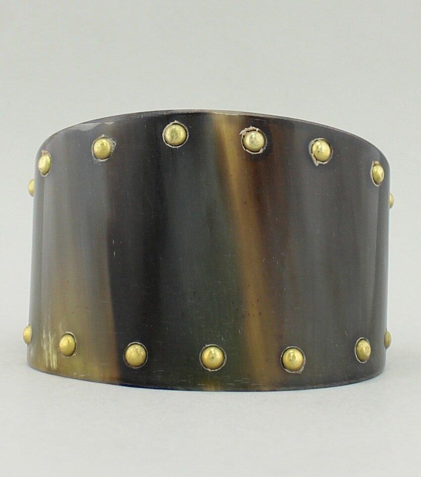 Studded Horn Cuff Bracelet