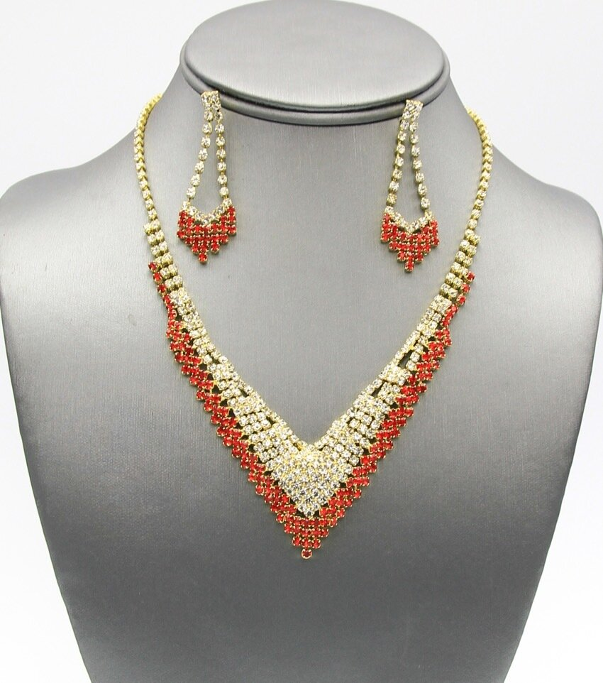 Rubi Rhienstone Bridal Necklace Set