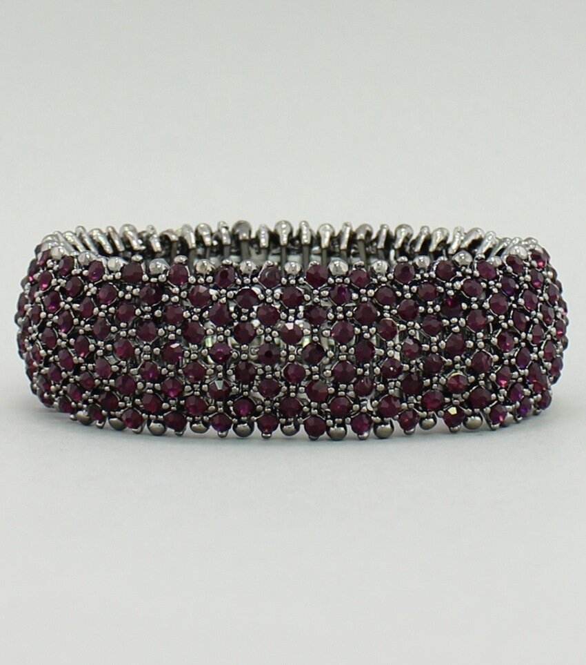 Six-Pack Purple Pave Crystal Stretch