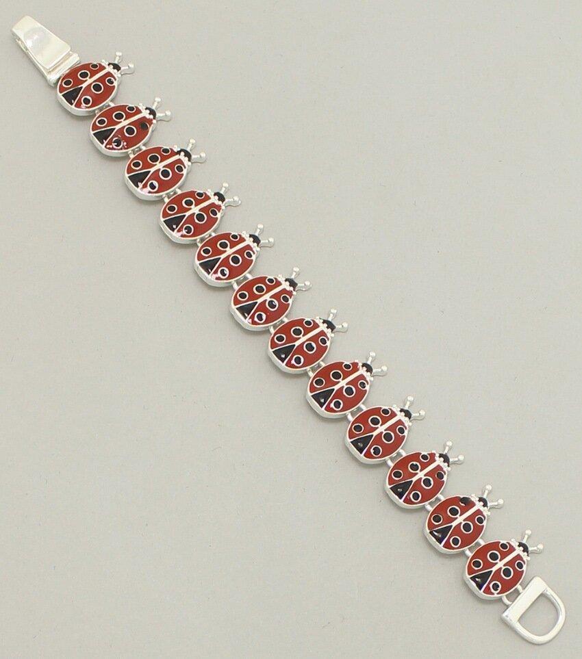 Enamel Ladybug Magnetic Bracelet