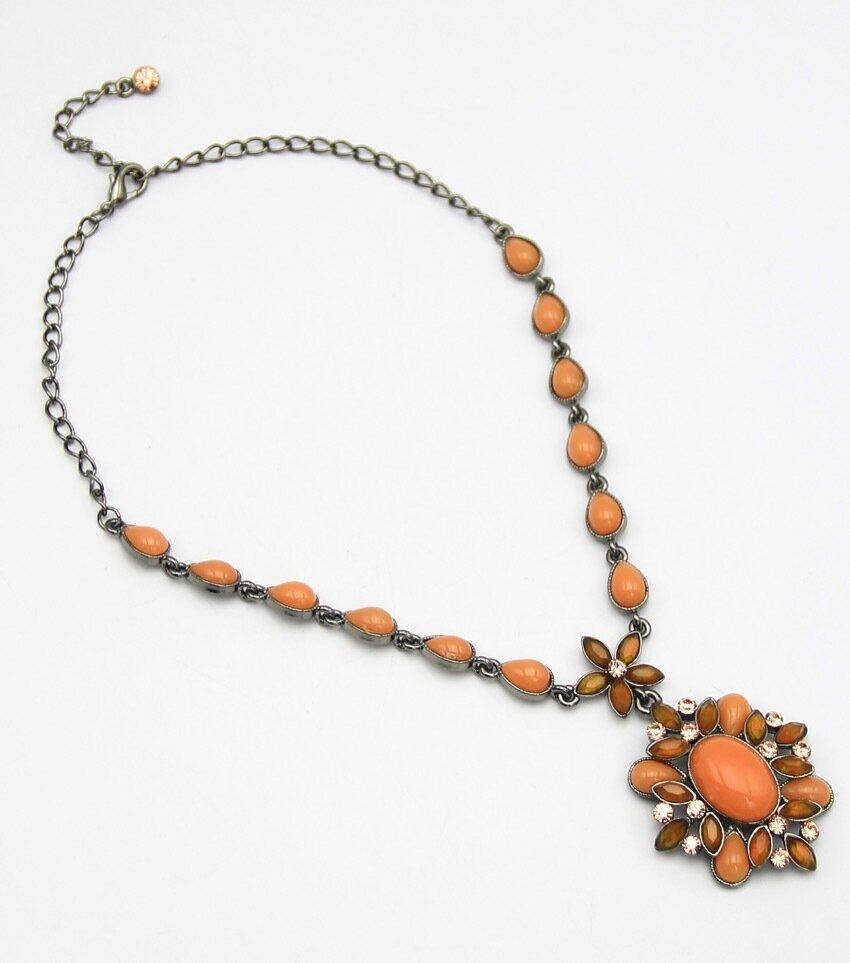 Crystal Pave Pendant Necklace