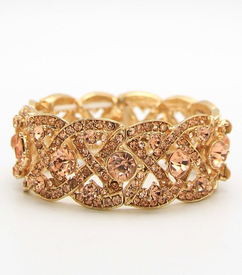 Victorian Crystal Stretch Bracelet